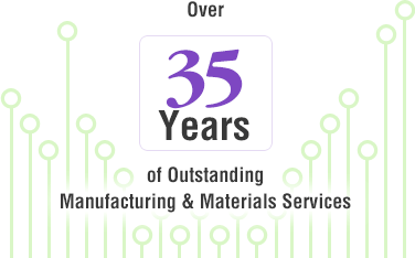 Over 35 years of outstanding manufacturing and materials services